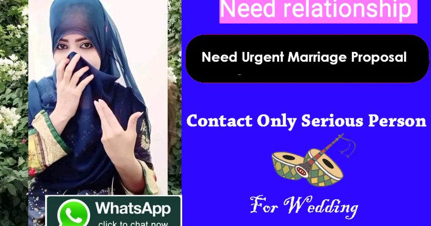 Need urgent marriage proposal for Alma girl